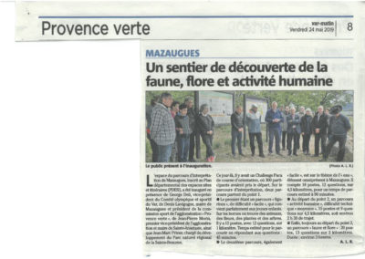 Article de presse Mazaugues